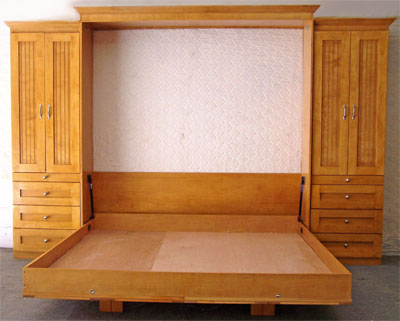Wall beds wallbeds murphy beds flip up beds lift beds for Inexpensive wall beds